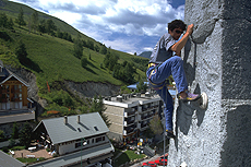 free climbing e attività sportive a les deux alpes