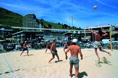 beach volley les deux alpes