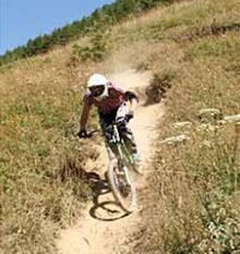 down hill a les deux alpes