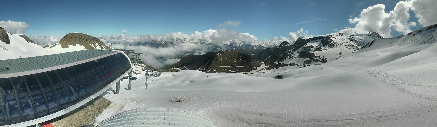 webcam Les 2 Alpes le glacier 3200m