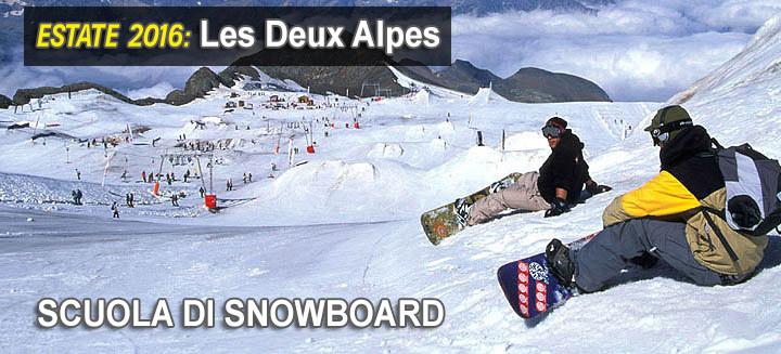 les deux alpes scuola di snowboard giusta