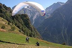 parapendio e attività sportive a les deux alpes