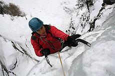 arrampicata su cascate di ghiaccio les deux alpes