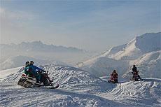 moto slitta les deux alpes