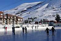 pattinaggio sul ghiaccio les deux alpes