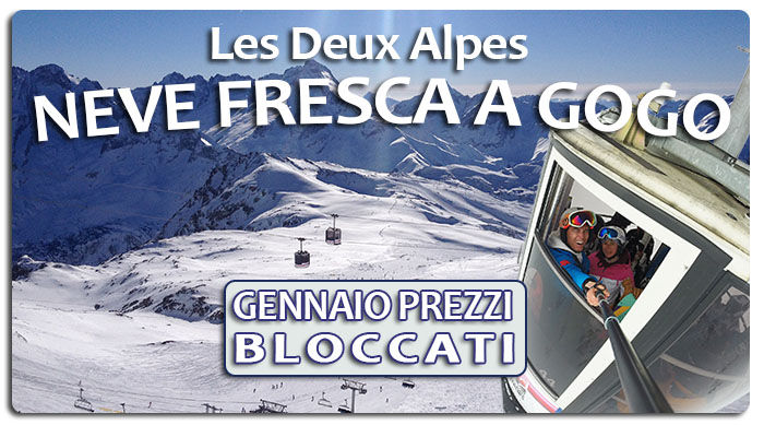 Les Deux Alpes Gennaio Neve a Go Go